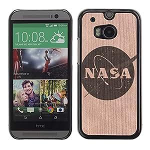- / Nasa Space Agency Logo Usa - - Funda Delgada Cubierta Case Cover de Madera / FOR HTC M8 One 2 / Jordan Colourful Shop/