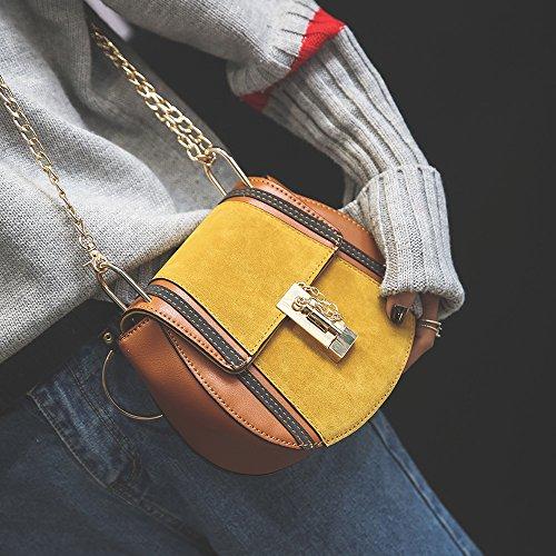 amp;QIUMEI Única Brown Messenger Cadena Bolso Orange Bolsa OME Bag vwdPq77