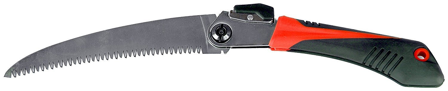Carpa Commercial Folding Hand Pruning Saw - 7'' Blade With Six Sharp Teeth Per Inch - Dual Position Locking Blade - Hardened Teeth High-Carbon Steel Blade - Commercial Grade Made In Portugal