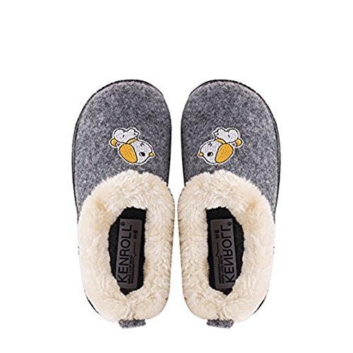 Kenroll Kids Cute Cozy Fleece House Slippers