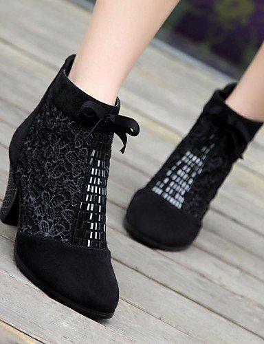 Botas Black 5 Eu39 Azul Zapatos De Tacón Uk5 Eu38 Negro Cn38 Semicuero us8 Robusto 5 Redonda Uk6 Xzz Cn39 Mujer Punta us7 Blue Vestido 0HTwnqq6