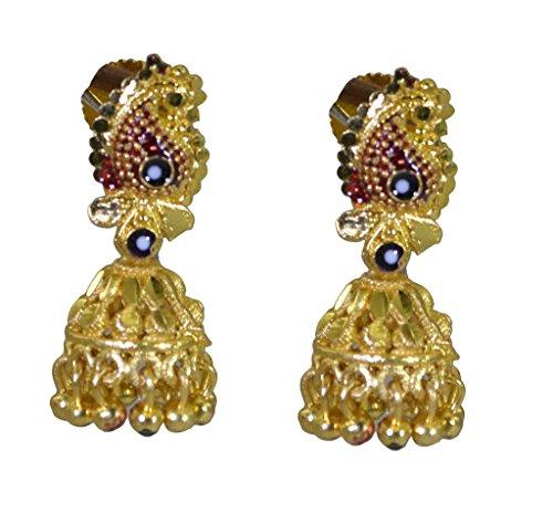 Riyo plaqué or boucle d'oreille plaine plaine magasin de bijoux faits à la main resplendissante gpejhu-120017