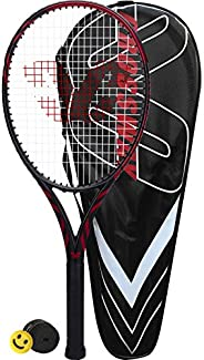 Crossway Sports Carbon Fiber Adult 27 inch Tennis Racket Pre-Strung Lightweight Professional for Youth Outdoor
