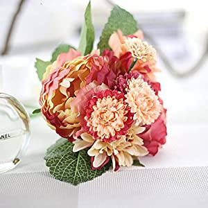 DHD Wedding Bride Hand Bouquet Rosemary Peony Flower Bouquet Vivifying Flower Home Furnishing And Decorative Flower 4
