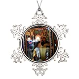 Metal Ornaments Xmas Trees Decorated Zoltar Fortune Pewter Christmas Snowflake Ornaments
