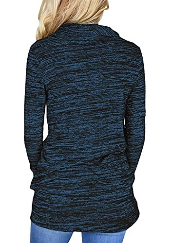 Pulls Mode Tunique Bleu Chemisiers Blouse Longues Legendaryman Printemps Shirts Tee Hauts Sweat Pullover Femmes Manches Casual et Tops Shirt T Automne 1nRzpzqTX