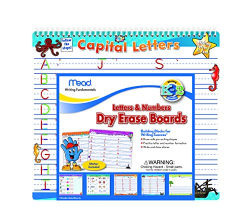 Mead Letters and Numbers Dry Erase Boards, 12-1/2 x 11-1/4-Inches (54216) Dry Erase Alphabet Board
