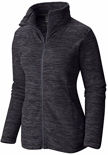 Mountain Hardwear Women's Snowpass Full Zip Fleece T-Shirt, Heather Black, M - Mountain Hardwear Womens Fleece