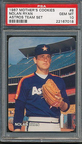 1987 Mother's Cookies #8 Nolan Ryan Astros Team Set – PSA/DNA Certified – Signed Baseball Cards
