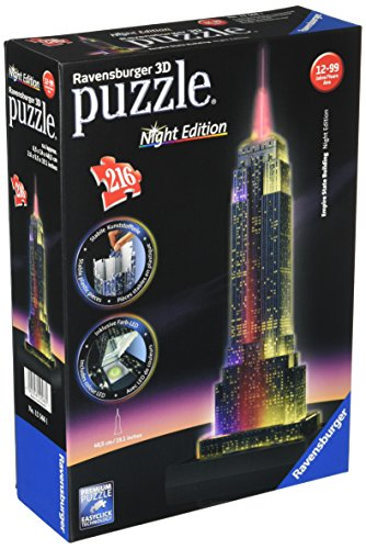 Ravensburger Empire State Building - Night Edition - 3D Puzzle (216-Piece) ()