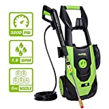 PowRyte Elite 3200 PSI 1.80 GPM Electric Pressure Washer, Electric Power Washer with 5 Quick-Connect Spray Tips