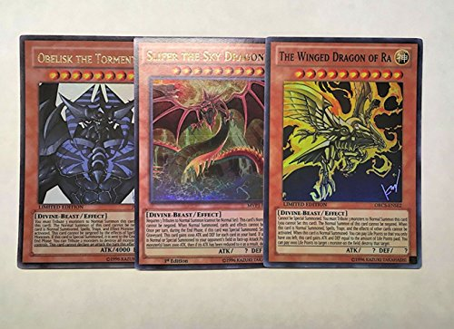 Yu-Gi-Oh! - Egyptian God Card Set Alternate Art ALL REAL (Best Egyptian God Card)