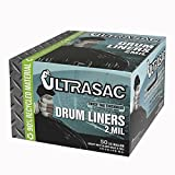 Ultrasac UL 55 GAL-50 Drum Liners, 55 gal, Black (Pack of 50)