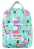 BESTIE 12'' Cute Mini Backpack Purse Travel Bag - Flamingo, Mint