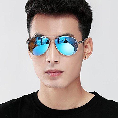 Bleu Tide de Gris Lunettes Mirror Myopia LE Bright de polarisées Lunettes de soleil Homme Sunglasses Frog KAI Driving soleil Lunettes Couleur soleil ROZ1wqq