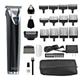 Wahl Clipper Stainless Steel Lithium Ion Plus Beard Trimmer Kit, Blue, No.9864K