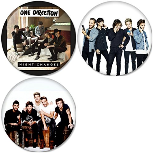 One Direction : Night Changes Pinback Buttons Badges/Pin 1.25 Inch (32mm) Set of 3 New (One Direction Pinback Buttons)