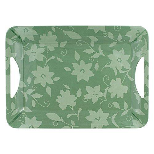 - Pfaltzgraff Patio Garden Melamine Rectangular Tray, Green