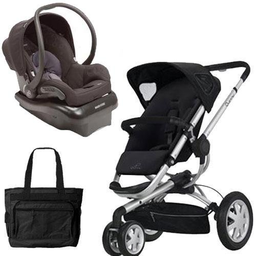 (Quinny BUZZ3TRVSTM Buzz 3 Travel System in Black with Diaper Bag)