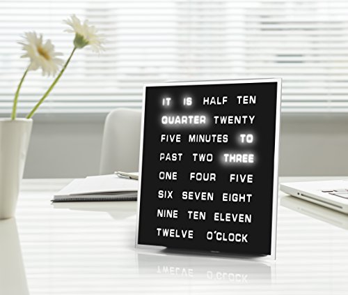 LED-Word-Clock-Displays-Time-As-Text