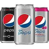 Pepsi Zero Calorie Variety Pack with Diet Pepsi/Diet Wild Cherry/Pepsi Zero Sugar, 6 (12oz) cans, 13.5 lb, pack of 18