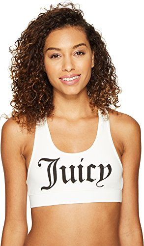 Juicy Couture Women T-shirts - Juicy Couture Women's Juicy Graphic Racerback Sport Top White T-Shirt