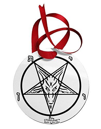 TooLoud Official Sigil of Baphomet Circular Metal Ornament All Over Print (For Trees Phoenix Az Christmas Sale)