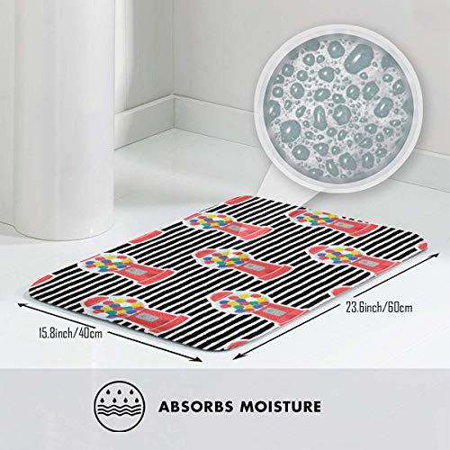 Downsville Gum Ball Machine Doormat Entrance Mat Floor Mat Rug Indoor/Bathroom Mats Rubber Non -