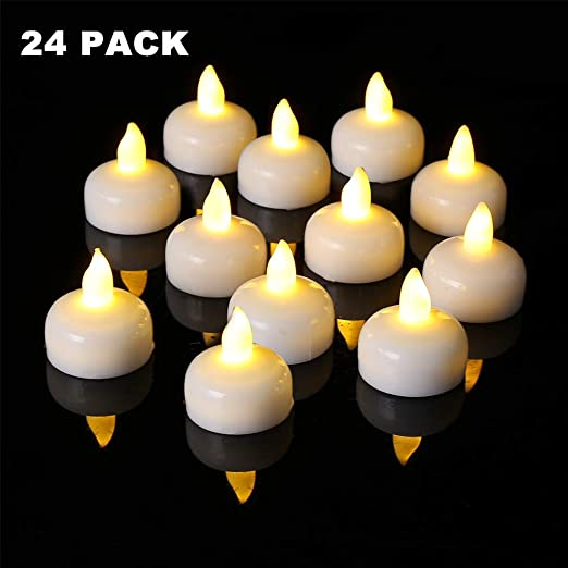 H-LINE FLOATING CANDLES IN RED PACK OF 25.
