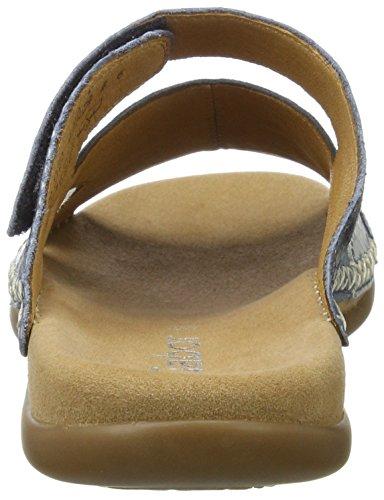 Gabor Shoes Fashion, Mules para Mujer Azul (cielo/argento/jean 66)