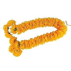 wonderflowers Big Size 70 cm. Artificial Yellow Marigold Garland for Make A Wish