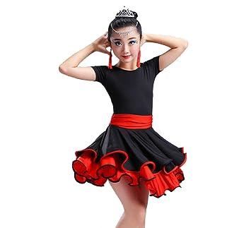 SMACO Vestido de Baile Latino para niños, Trajes de Baile ...