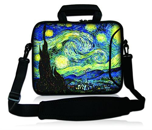 Goldwheat 17 17.3 inch Laptop Bag Sleeve Bag with Side Pocket and Removable Shoulder Strap Messenger Bag Briefcase for 17
