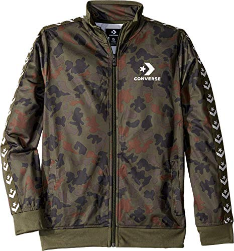 Converse Kids Boy's Printed Tricot Track Jacket (Big Kids) Heritage Camo -