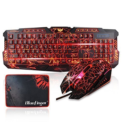 BlueFinger-Backlit-Keyboard-and-Mouse-with-Backlight-Keycaps-Adjustable-Red-Blue-Purple-Color-USB-Wired-Gaming-Keyboard-and-Mouse-Combo-with-Customised-MousePad