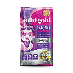 Solid Gold 15211 Mighty Mini Lamb, Sweet Potato & Cranberry Grain Free Toy & Small Breed Recipe, 11 lb