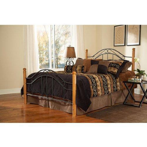 - Hillsdale Furniture 164BQR Winsloh Bed Set with Rails, Queen, Black
