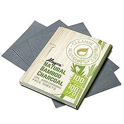 Oil Blotting Sheets- Natural Bamboo Char...