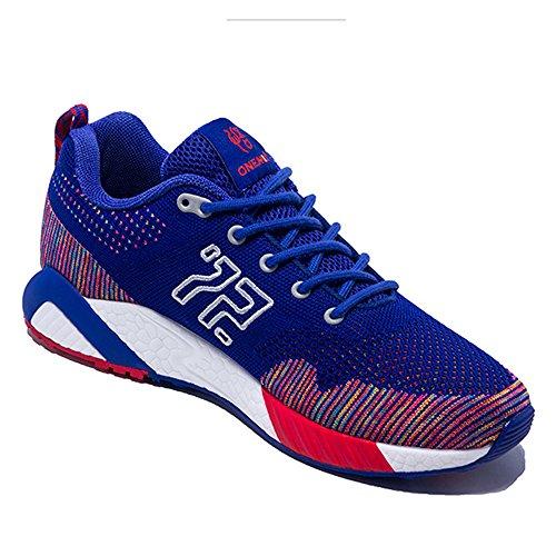 Onemix Heren Dames Ademend Mesh Outdoor Sport Sportschoenen Blauw