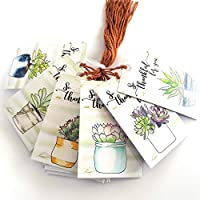 Succulent So Thankful for You Thank You Favor Hang Tags - Wedding Baby Shower Party - Set of 24