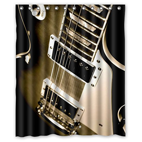 Indianapolis Colts Shower Curtain - JIUDUIDODO Nature & MILDEW RESISTANT Personalized 4th July Gifts Beautiful Guitar Custom Waterproof Polyester Fabric Bathroom Shower thick curtains 60