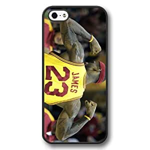 UniqueBox - Customized Personalized Black Hard Plastic iPhone 5/5S Case, NBA Superstar Cleveland Cavaliers Lebron James iPhone 5/5S Case, Only Fit iPhone 5/5S Case