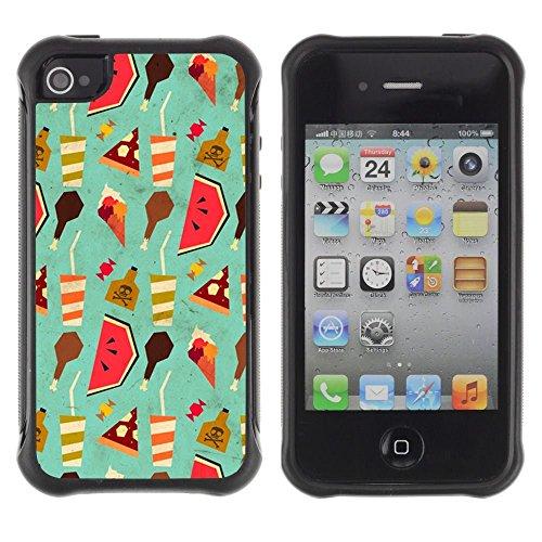 iPhone 4 / iPhone 4S , Wallpaper Art Drink Watermelon Food Ice Cream