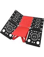 BoxLegend Shirt Folding Board Clothes Folder Shirt Folder Laundry Folder Easy and Fast to Fold Adults' Clothes Premium PP Plastics (Black-Red)