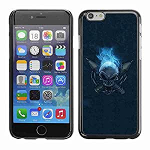 """Planetar® ( Flaming Skull ) Fundas Cover Cubre Hard Case Cover 4.7"""" iPhone 6"""