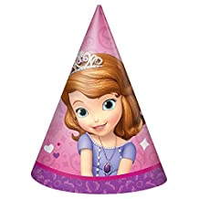 Sofia The First Party Hats, 8ct