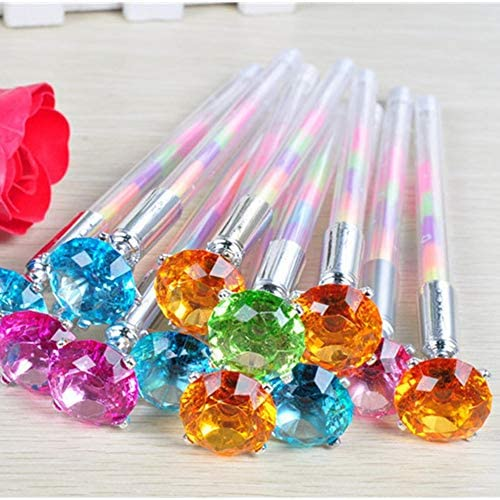 Pen Cute Kawaii Crystal Ball Pens Ballpen Trendy Large Diamond Ballpoint Pens Korean Pens for School Stationery Office Supplies