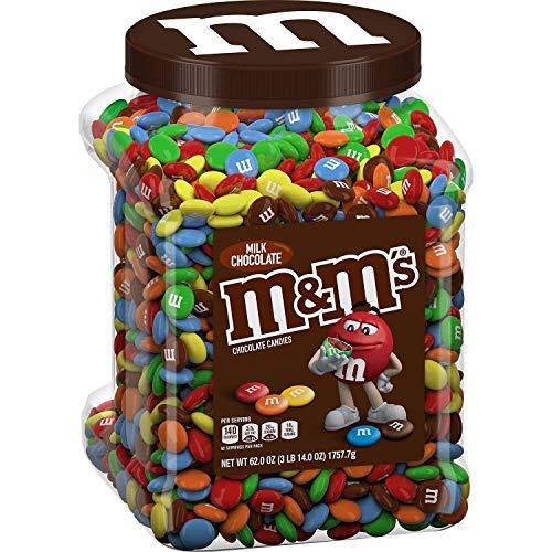 M&M's Milk Chocolate Candies Jar (62.0 OZ), 62 oz (PACK OF 2)