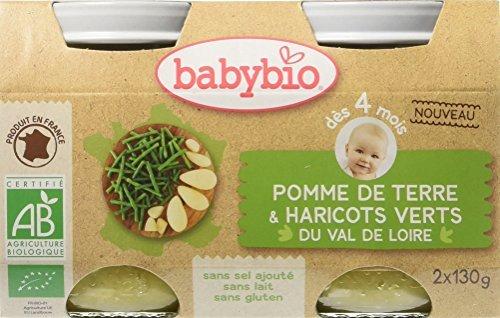 Babybio Pots Pomme de Terre/Haricots Verts du Val de Loire 260 g 51047 alimentation bébé diversification