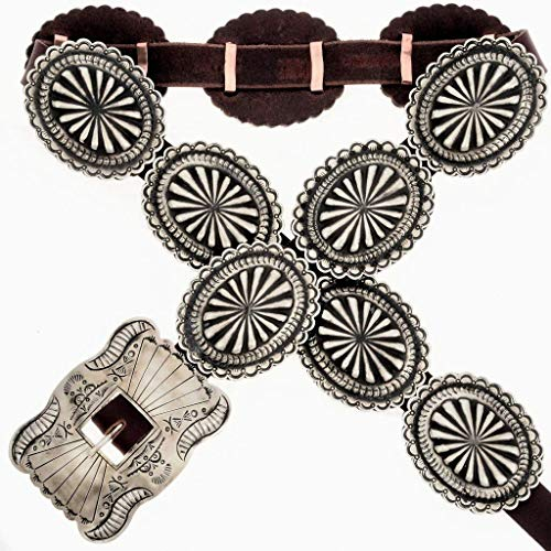American Indian Concho Belt Full Size Silver 3901